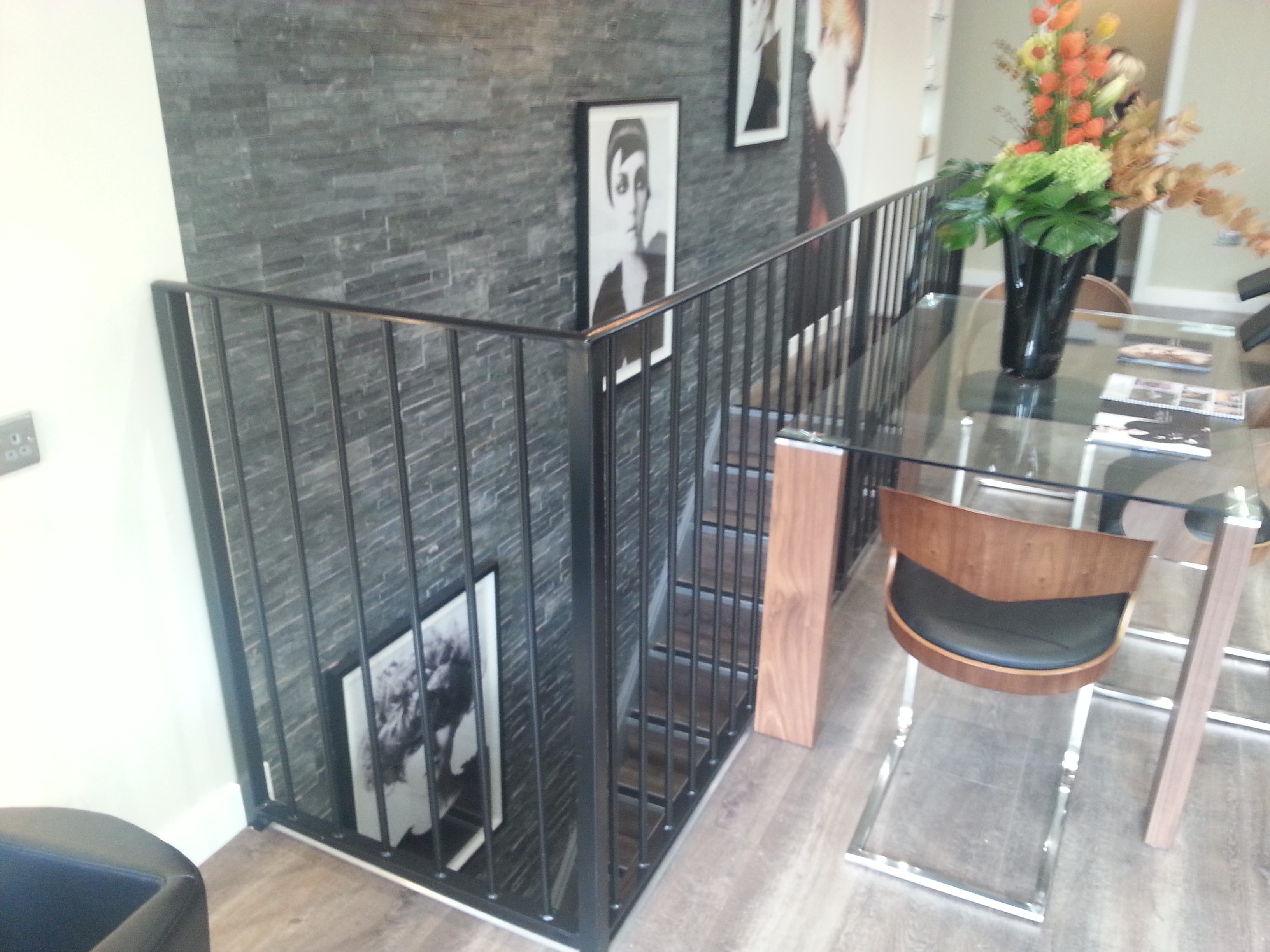 Interior metal balustrade