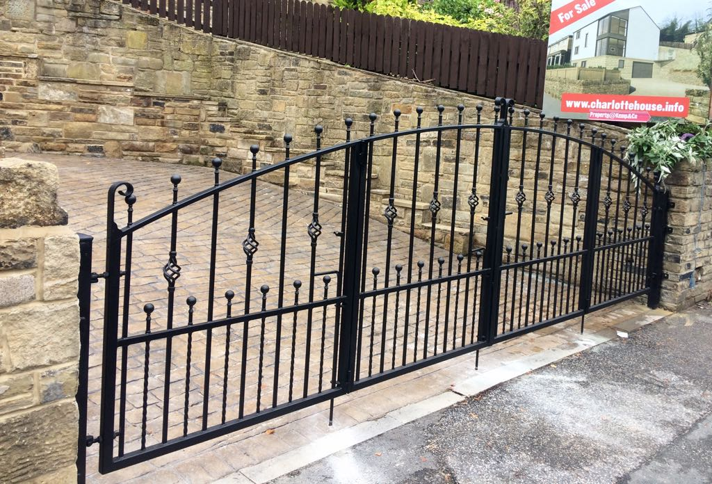 Bi folding wrought iron gates uk