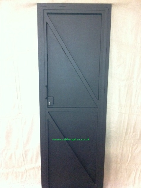 metal security door inside