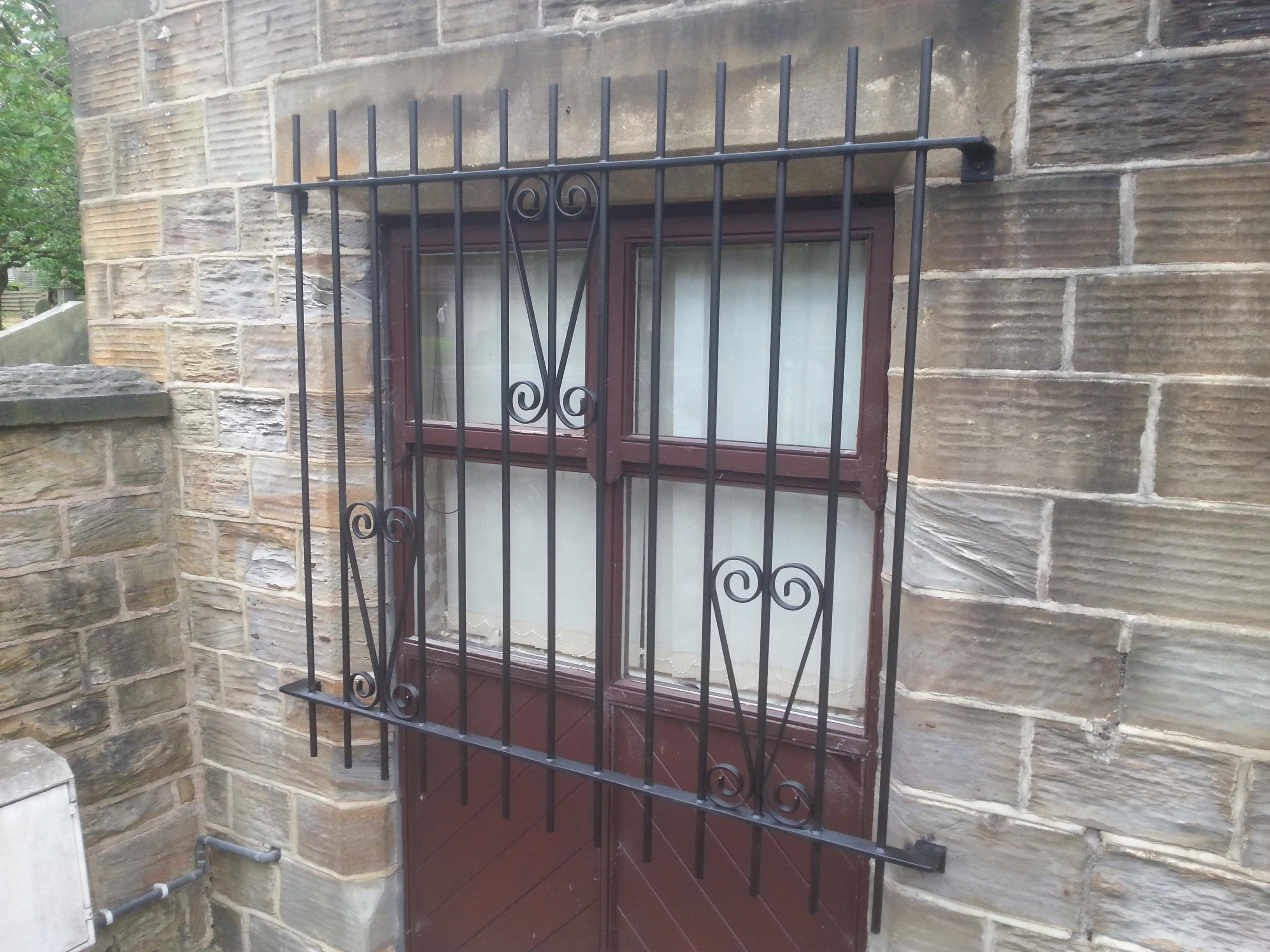 Wrought Iron Metal Window Security Gilles Bespoke Design