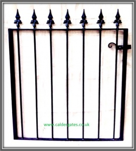 Brook Wrought Iron Metal Garden Gate