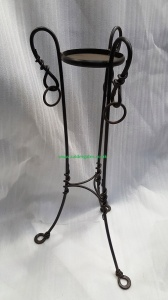 Hand forged wrought iron metal style planter