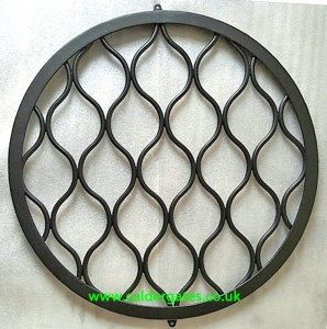 Wrought Iron Metal Well Cover Wavy Design