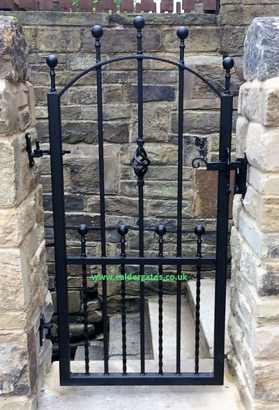 Hebble wrought iron metal garden gate arch design