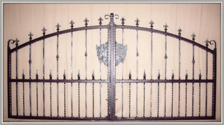 Aire wrought iron estate gates