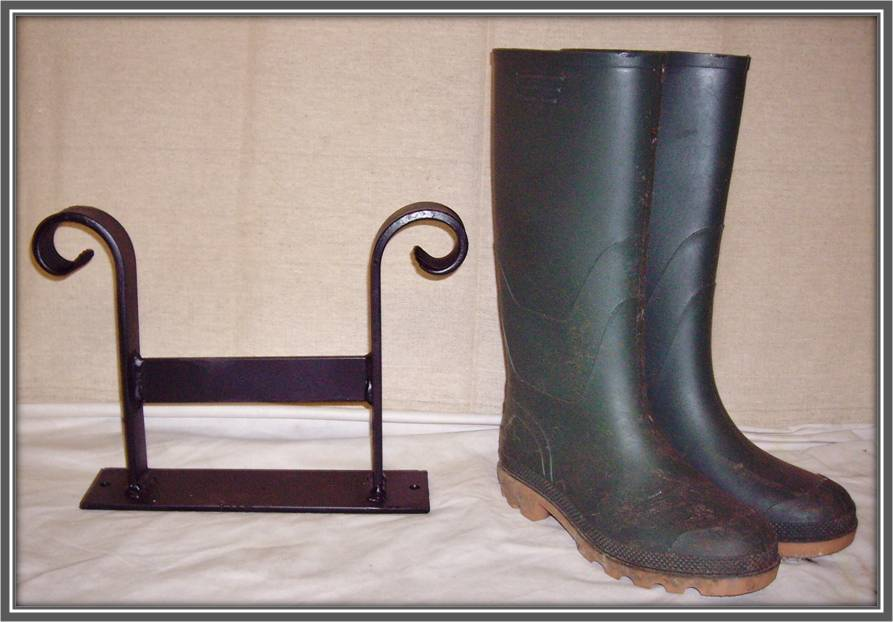 wrought iron shoe boot scraper