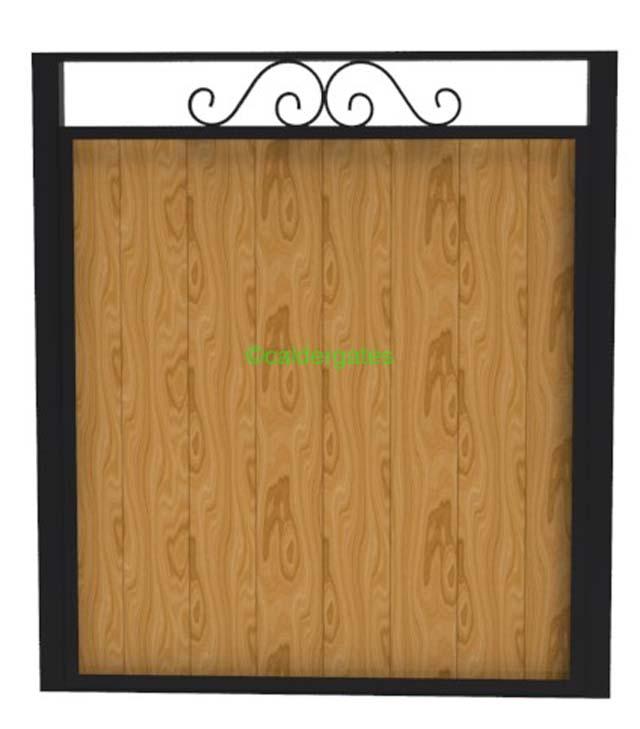 Sherwood metal framed wood infill garden gate