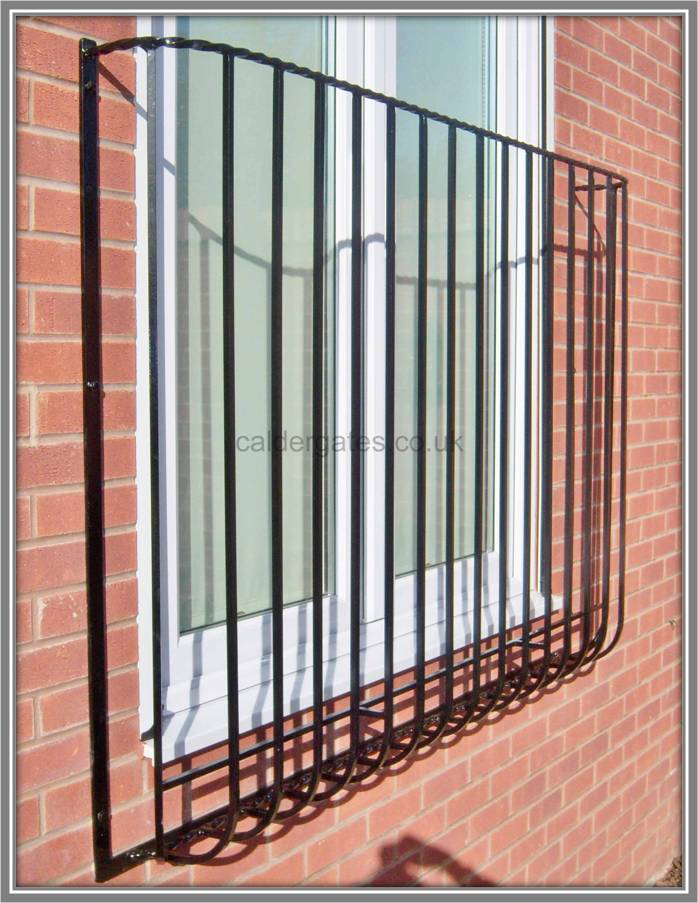 Twist wrought iron metal balcony balconette made to for Metal balcony