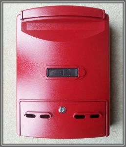 Red Aluminium Letter Box
