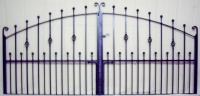 Hebble Wrought Iron Arch Top Metal Estate Gates