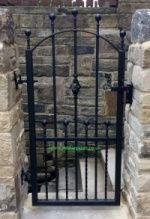 Hebble Wrought Iron Metal Garden Gate