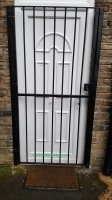 Metal Security Gate With Keyed Lock For Doors