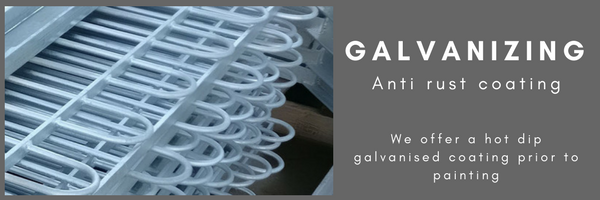 Hot dip galvanized railings
