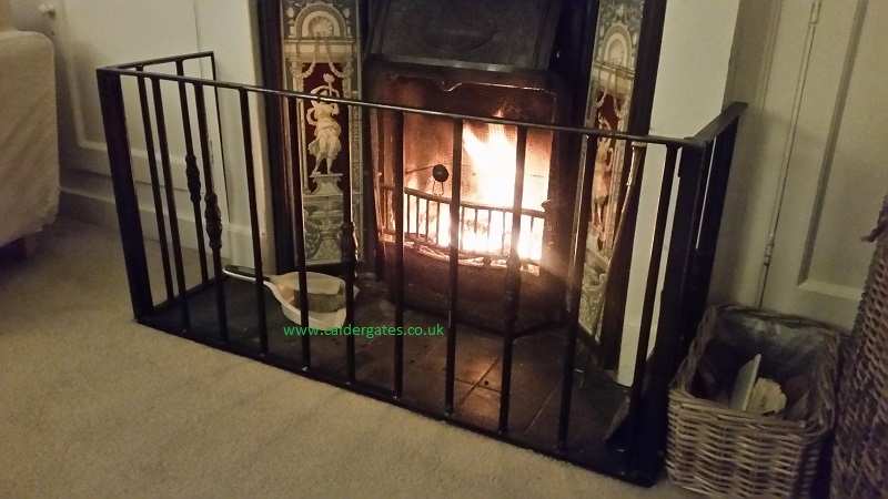 wrought iron fire guards cutom made uk