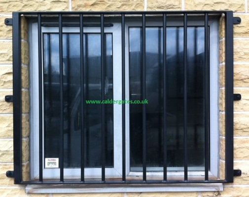 Metal window grill to meet insurance requirements