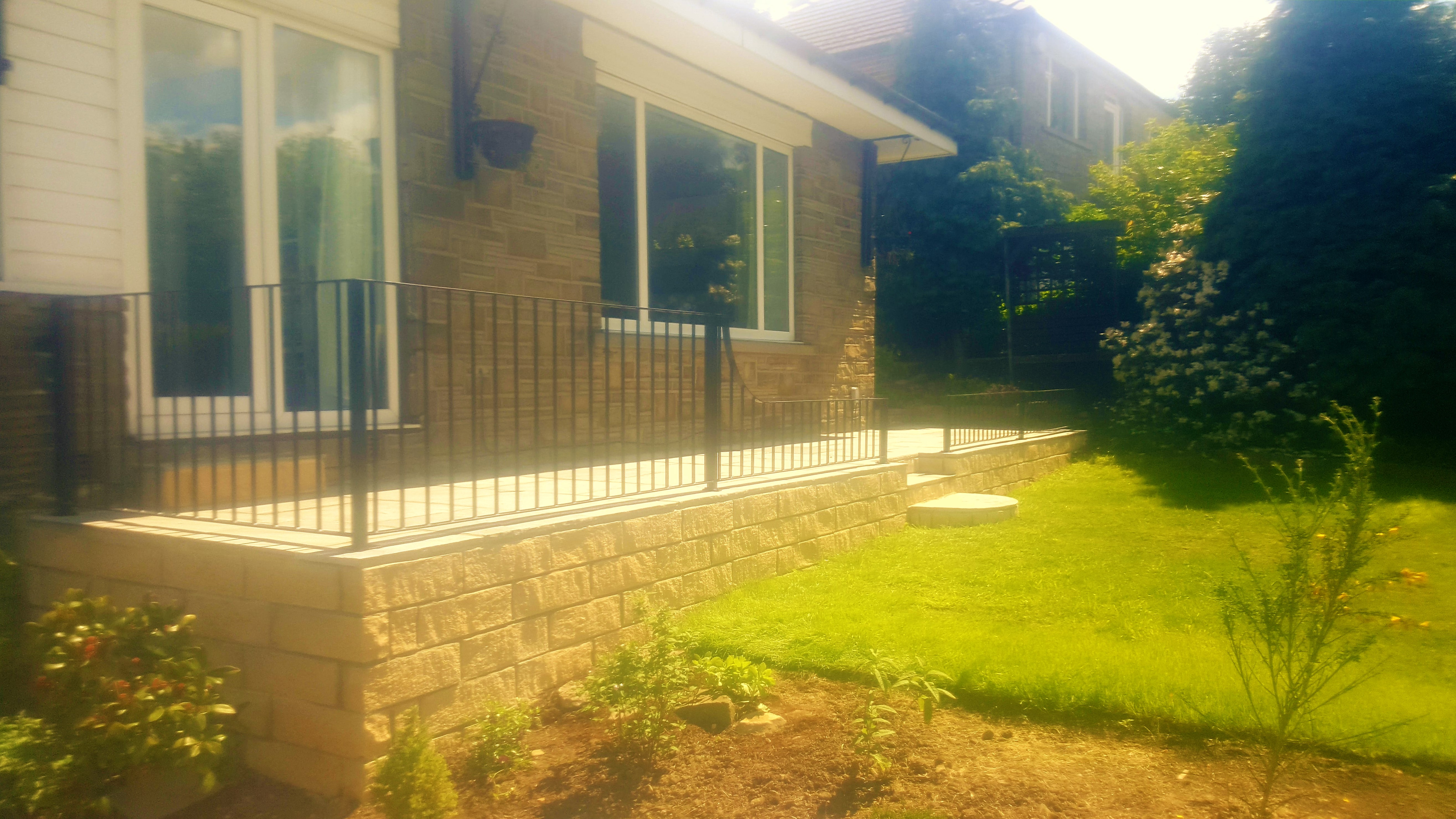 Wrought iron patio railings