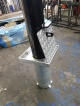 Heavy Duty Removable Metal Bollards With Ground Sockets