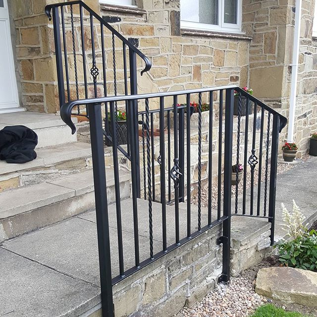 wrought iron handrail panel