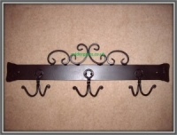 Wrought Iron Metal Coat Rack