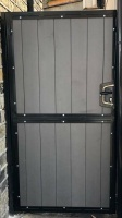 Composite Wood Infill / Metal Side Entry Gate - With Lock