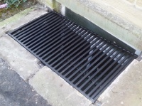 Order for L Carruthers - bespoke cellar grate