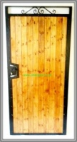 Sherwood Wood Infill / Metal Side Entry Gate