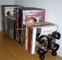 Wrought Iron Metal CD Rack DVD Holder