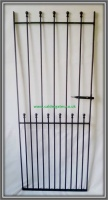Ball Top Wrought Iron Side Entry Gate