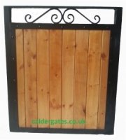 Sherwood Metal Framed Wood Infill Garden Gate
