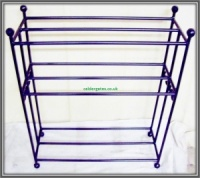 9 Pair Wrought Iron Metal Shoe & Boot Rack
